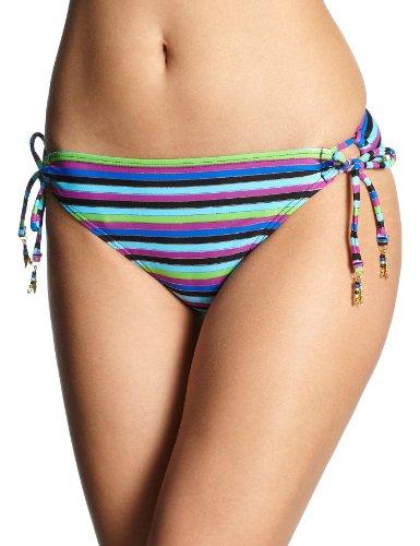 Roxy Damen Bikini Hose Easy Does It 70S Lowrider Tie Sides, Easy Does BLK, L, XIWBB071 (Lowrider Hosen Damen)