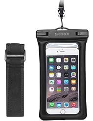 [Funda Impermeable Universal] CHOETECH Funda PLaya Bolso Impermeable TPU+ABS Funda Sumergible Movil Sensible al Tacto de la caja Compatible para iPhone 6s, 6s Plus, Samsung Galaxy S7, S6 y todos los dispositivos de hasta 6 pulgadas