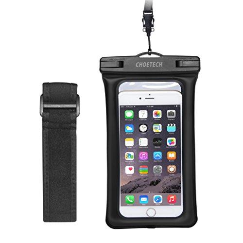 Custodia Impermeabile Smartphone Choetech® [15 Cm / 6 Pollici] Busta Cellulare Impermeabile Universale per iPhone SE / 6s / 6s Plus, Samsung S7 / S7 edge / S6 / S6 Edge, Huawei, HTC, Nexus ed altri Sm Nero