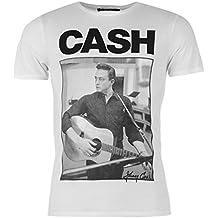 Johnny Cash Offizielles Band T-Shirt für Herren in weiß