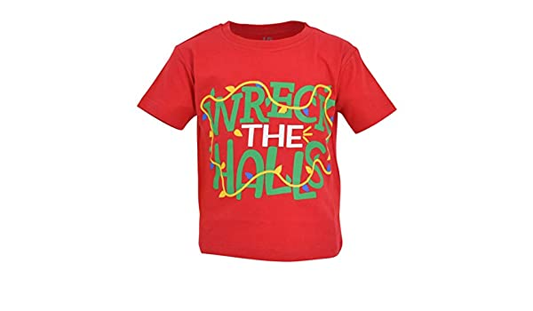 Unique Baby Boys Wreck The Halls Christmas T Shirt
