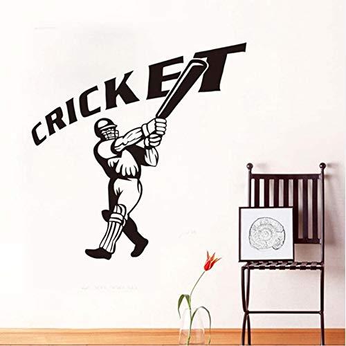 ll-Spieler Wandaufkleber Cricket Zitat Abnehmbare 3D Poster Wasserdichte Wandtattoos Gym Sport Wandbild Für Kinderzimmer Wohnkultur ()