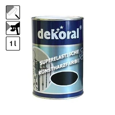 1 Dose Lack schwarze Farbe Metall schwarz 10 m² Tor Zaun glanz Metallfarbe von DEKORAL - TapetenShop