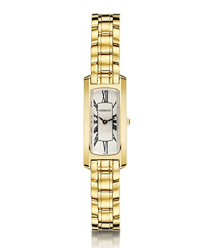 Michel Herbelin Escapade Women's Quartz Watch with White Dial Analogue Display and Stainless Steel Gold Plated Bracelet 1064/BP08