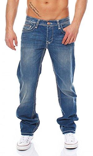 CIPO & BAXX - C-0738 - Regular Fit - dicke Naht - Men / Herren Jeans Hose Blau