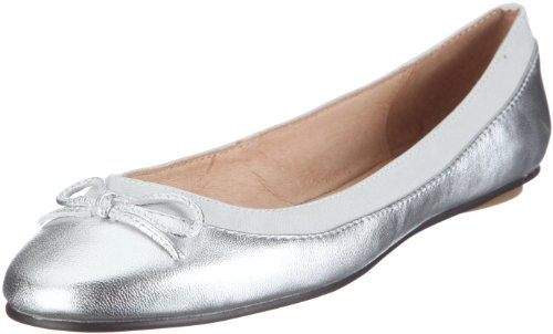 Buffalo 207-3562, Ballerines femme Argent (Kid cuir silver)