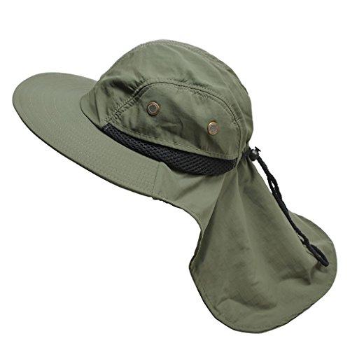 Fisherman caps Sommer Sonnenhut Dayan Mao Hut flache Krempe Sonnenhut UV Kappe Falten, die ihr Gesicht (Armee-Grün)