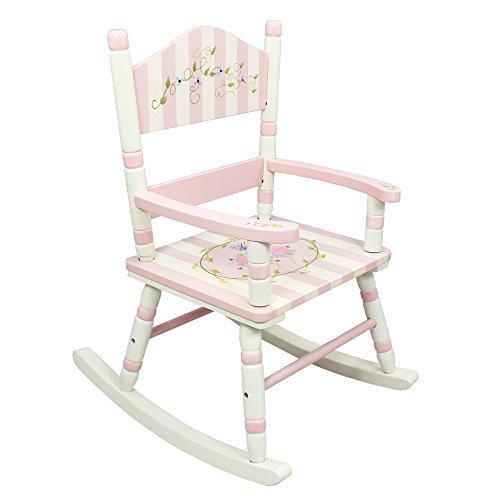 Elegante silla mecedora infantil de madera hecha a mano Fantasy Fields W-3847F
