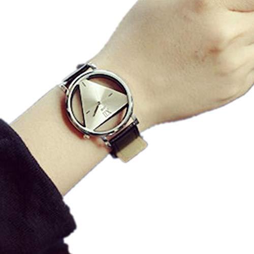 Jia Meng Ladies Unique ausgehöhlte dreieckige Zifferblatt-Mode-Uhr Geburtstagsgeschenke