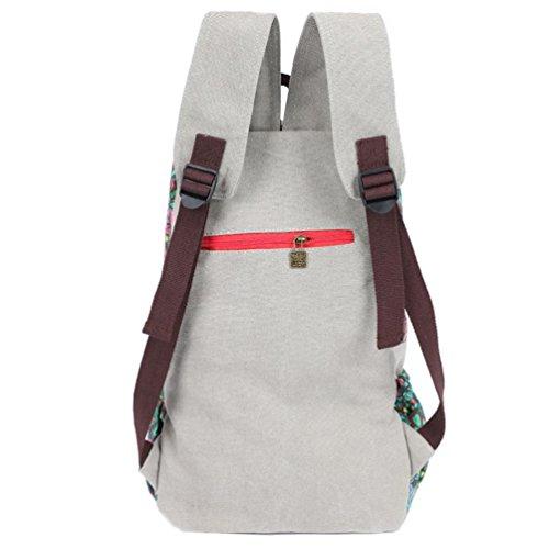 Chang Spent tela spalla casuale di corsa del sacchetto dello zaino delle donne , a a