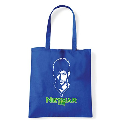 Art T-shirt, Borsa Shoulder Neymar Jr, Shopper, Mare Blu