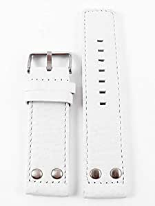 Oozoo OA-02-24 - Bracelet pour montre, cuir, couleur: blanc