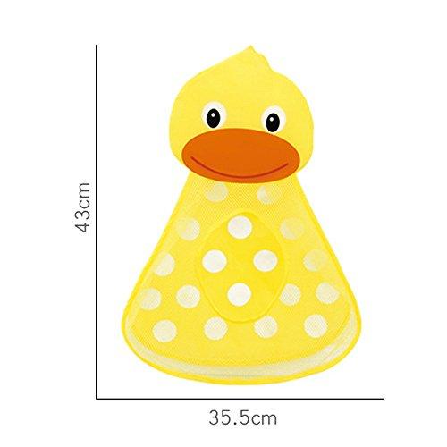 VICKY-HOHO Bad Organizer, Baby Badewanne Spielzeug Mesh Ente Aufbewahrungstasche Organizer Halter Bad Organizer (Gelb)