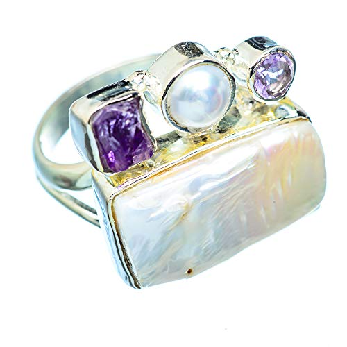 Mother Of Pearl, Mutter Der Perle 925 Sterling Silber Ring 9 (Ana Silver Co Ringe)