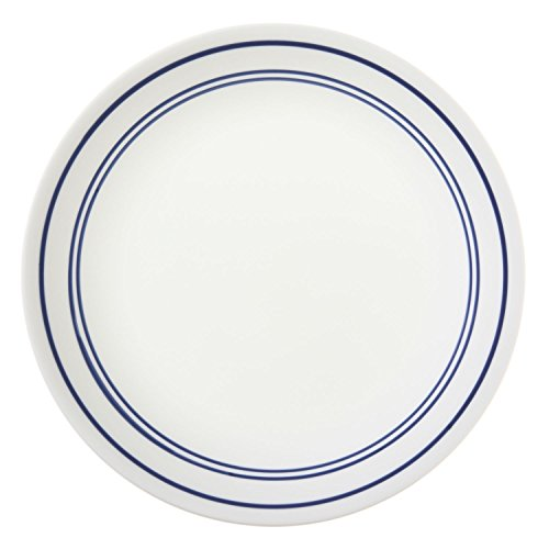 Corelle Livingware 8-1/2-Inch Luncheon Plate, Classic Cafe' Blue (6 Plates) by CORELLE (Classic Corelle Cafe)