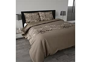 Multistore 2002 Ensemble Housse de Couette 240 x 220 cm ROYAL Luxury Taupe en microfibre