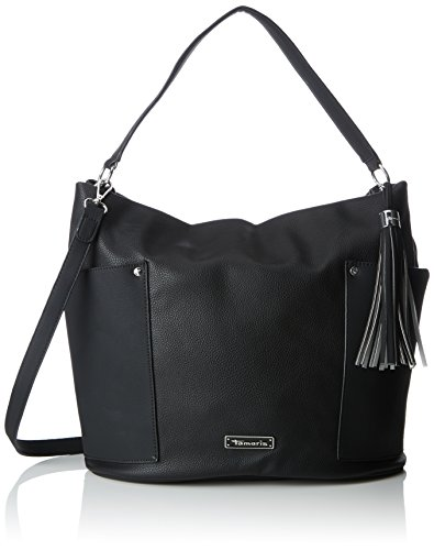 Tamaris - Edna Hobo Bag, Borse a spalla Donna Nero (Black Comb.)