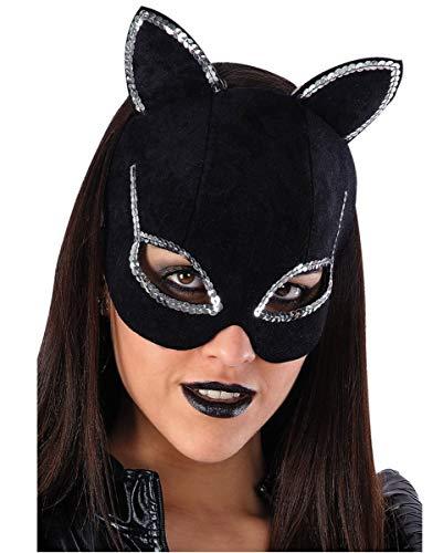 Schwarze Katzenmaske