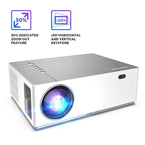Beamer 6000 Lumen Full HD Native 1080p BOMAKER LED Videoprojektor 300\'\' Display Zoom ±50°Elektronische Korrektur Dolby unterstützt mit Dual HDMI USB Anschlüsse für Heimkino&Geschäftspräsentation