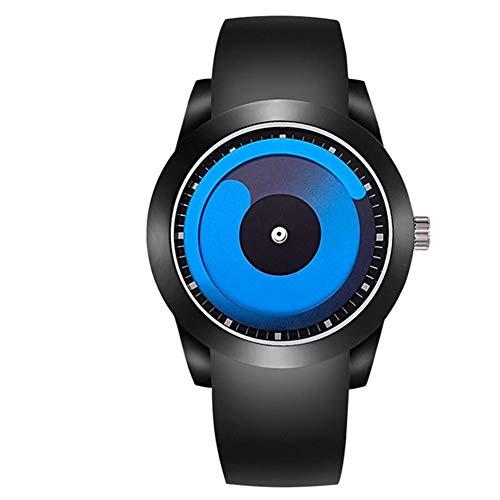 KWAOCYBR Explosive Modelle von Creative Quarz Watches Student Men 's Whirlpool-Uhren, blau