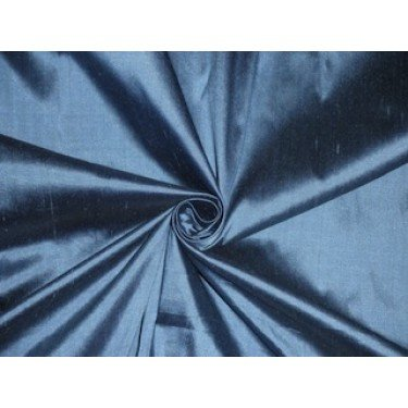 Reine Seide Dupionseide Stoff blau x schwarz Shot Farbe 137,2cm by the Yard