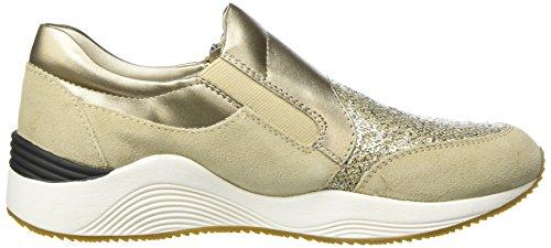 Geox D Omaya A, Sneakers Basses Femme Beige (Lt Taupec6738)