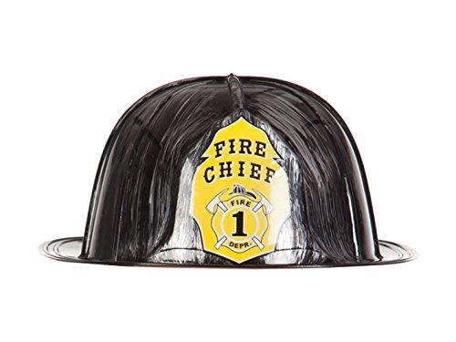 Boland 01378 - Erwachsenenhelm Fire Chief, Einheitsgröße, schwarz