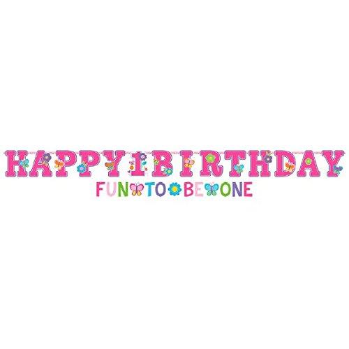 (Amscan Sweet Mädchen Ersten Geburtstag Letter Banner Kit)