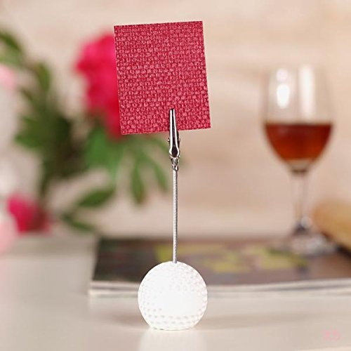 5x Golfball Rezept Hinweis Memo Halter Büroklammer Hochzeits Foto Platz Kartenhalter (Kartenspiel Hinweis)