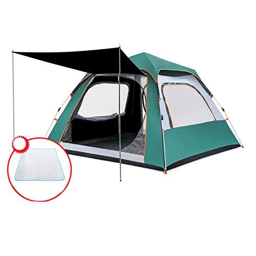 TonXiory 3-4 Personen Camping Zelt,Wasserdichte automatische popup-Outdoor-Sportarten kuppelzelt Camping Sonne unterstände-grün 210x210x140cm(83x83x55inch)