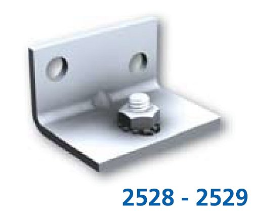 4 Stück Minisport 2529 Wandbefestigung für MA-40 und MA-80 Schiebetürbeschläge