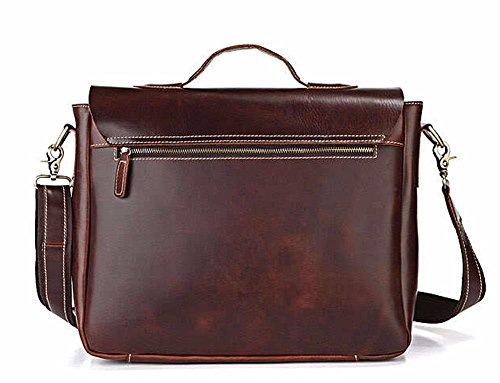 Everdoss Herren Aktentasche Vintage Laptoptasche Arbeitstasche Businesstasche Laptop Messenger Bag Wein Rot Rot Wein