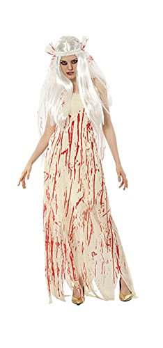 Pop Kostüme Halloween Kultur (Damen Halloween Blut Braut Kostüm Onesize EUR 36-42 (Onesize (EUR 36-42),)
