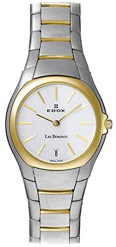 Edox Les bemonts Ultra Slim Ladies Reloj para Mujer Analógico de Cuarzo Suizo con Brazalete de Acero Inoxidable 26021-357-AID