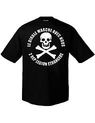 Rock Style 2Rep Fremdenlegion Légion étrangère Skull 702016 T-Shirt