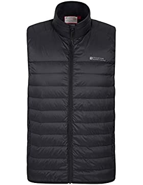 Mountain Warehouse Featherweight Featherweight Mens Gilet - chaqueta ligera de Mens, impermeable hidrófugo, bolso...