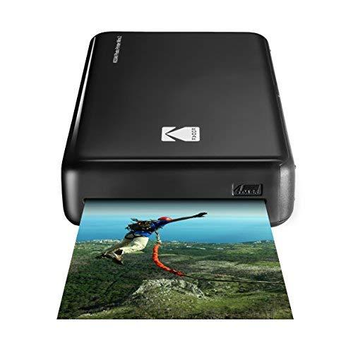 Kodak - Imprimante Photo Mini 2 HD, Instantanée, sans Fil et Mobile, Technologie d'Impression Brevetée 4Pass, Compatible avec iOS et Android, Noir