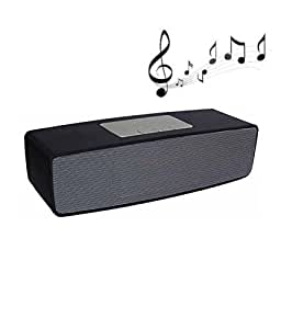 100% Compatible Bluetooth Speakers Portable wireless surround sound speaker Stereo speaker High Definition Audio With Handsfree Calling Feature Fm Radio & Sd Card Slot Assorted Output Strong Bass Stereo Sound Compatible with Karbonn Mobile K111 Star by JOKIN