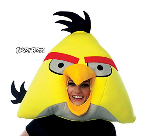 Horror-Shop Gelbe Angry Birds Maske (Bird Angry Maske)