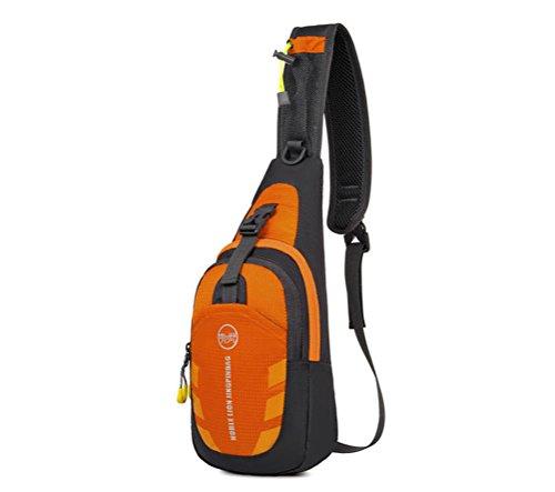 Baymate Unisex Packable Spalla Zaino Attraversare Corpo Il Petto Sacchetto Pacchetto Arancione