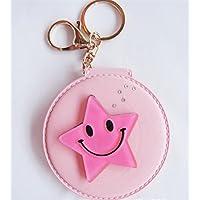 Preisvergleich für Baby-lustiges Spielzeug Mini runde Form kosmetische Spiegel kleine Glas Spiegel für Handwerk Dekoration Rosa