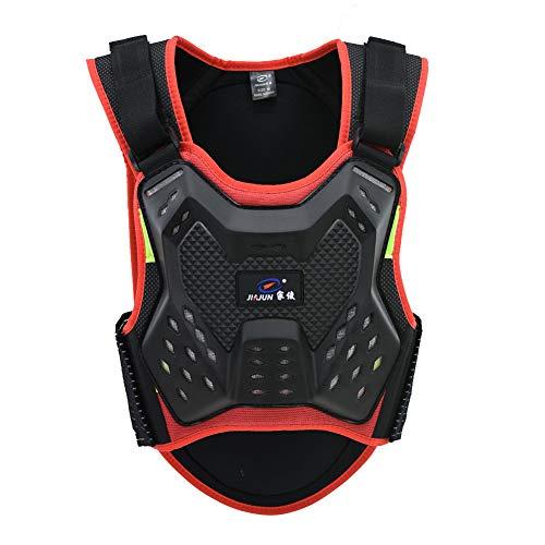 CNDMW Motorrad-Schutzweste Weste,Skifahren Reiten Skateboarding Brust RückenBeschützer,ÄrmelloseWirbelsäule Brustpanzer, Anti-Fall Gear