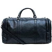 238559f63510f Leder reisetasche sporttasche damen herren schultertasche ledertasche  raumbeutel schwarz