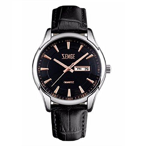 ZEMGE Hombres Reloj De Cuarzo AnalóGico Cronógrafo Fecha resistente al agua reloj de pulsera unisex Business Casual simple diseño clásico DW Boss ZC0901