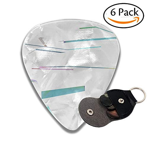 Abstract Architectural Interior With White Sculpture And Geometric Glass Lines Colorful Celluloid Guitar Picks Plectrums For Guitar Bass 6 Pack.46mm -