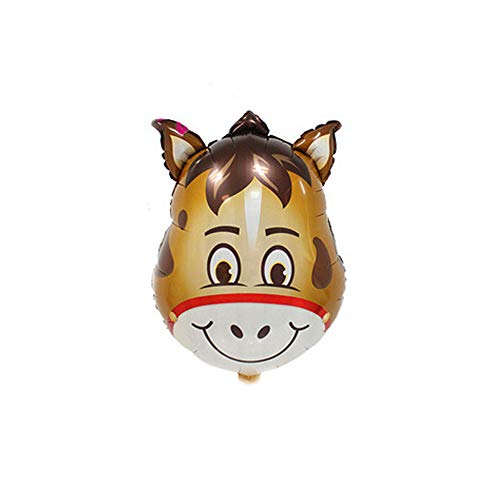 CTGVH Folienballons, 55,9 cm, Tierkopf-Luftballons, Geburtstag, Tiere, Motto Party Dekorationen Esel