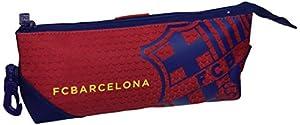 Futbol Club Barcelona- F.C Barcelona Estuche portatodo Triangular, Color Azul/Granito (SAFTA 811572708)