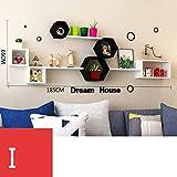 WuShuang Massivholz-schwimmende Regal-Wand-hängende Wand-Kabinett-Fernsehwand-Wand-dekorative Wand-Bücherregal-Trennwand-Wand,I
