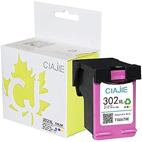 ciajie rigenerate HP 302X L F6U68AE cartuccia d' inchiostro Show livello d' inchiostro multicolore 1*Color