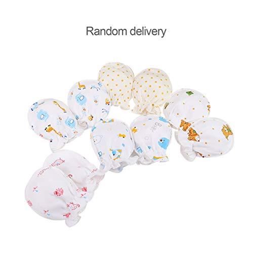 WEIWEITOE Winter voller Baumwolle Neugeborenen Jungen Mädchen Anti greifen Handschuhe atmungsaktiv warm halten Säugling Gesicht schützen Handschuhe 0-3 Monate, nach dem Zufallsprinzip geliefert,